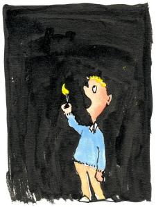 Light-in-dark illustration